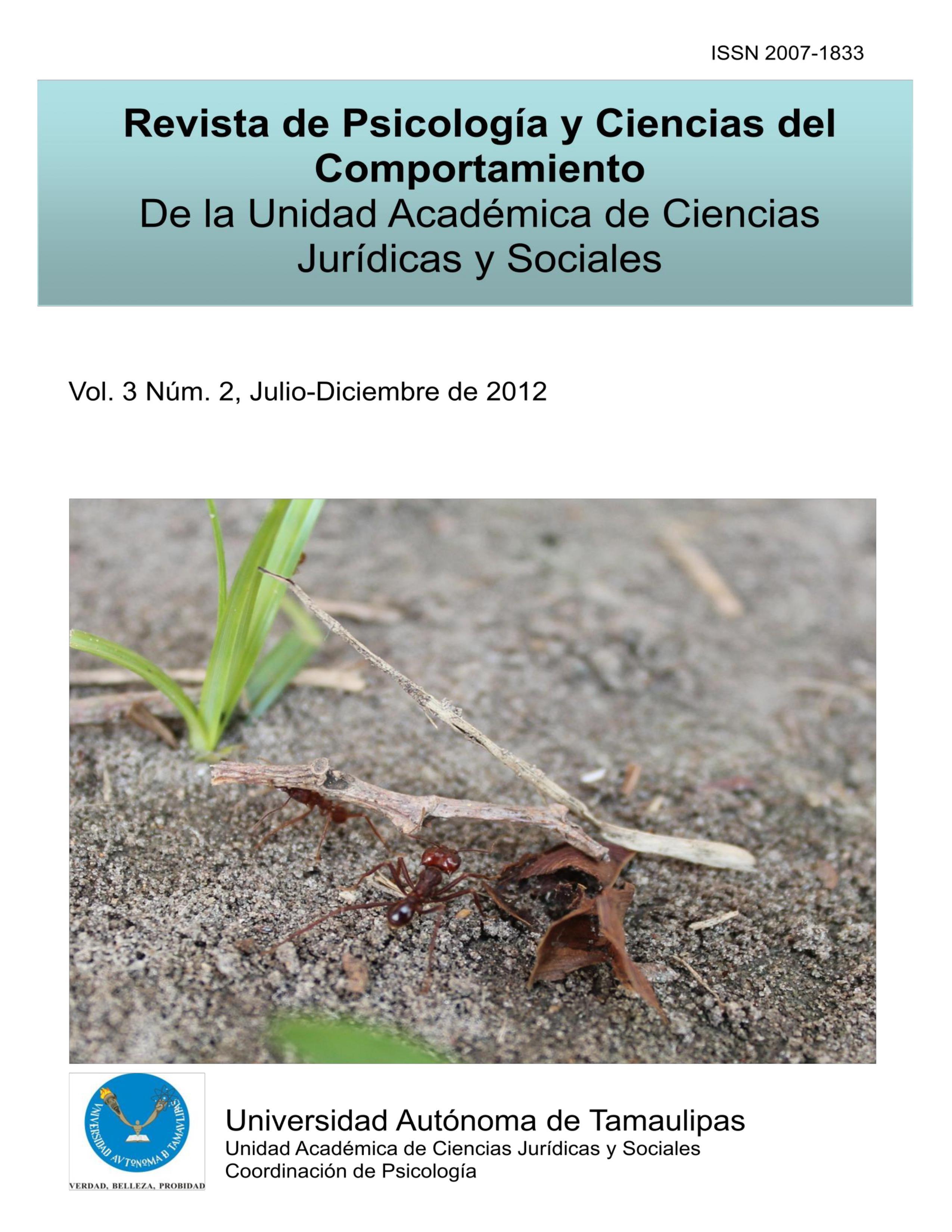 Ver Vol. 3 Núm. 2 (2012): Julio-Diciembre de 2012